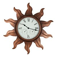 Sun Metal Wall Clock - Indoor & Outdoor