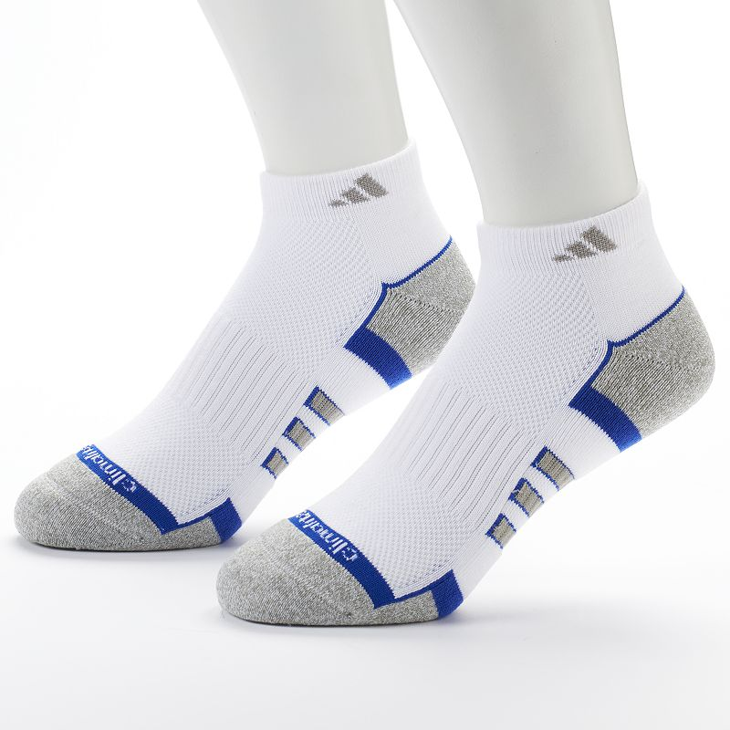Men's adidas 2-Pack White Climalite Low-Cut Performance Socks