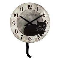 Cat Wood Wall Clock