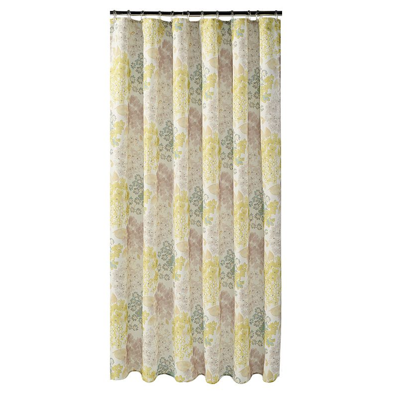 Flower Bed Fabric Shower Curtain
