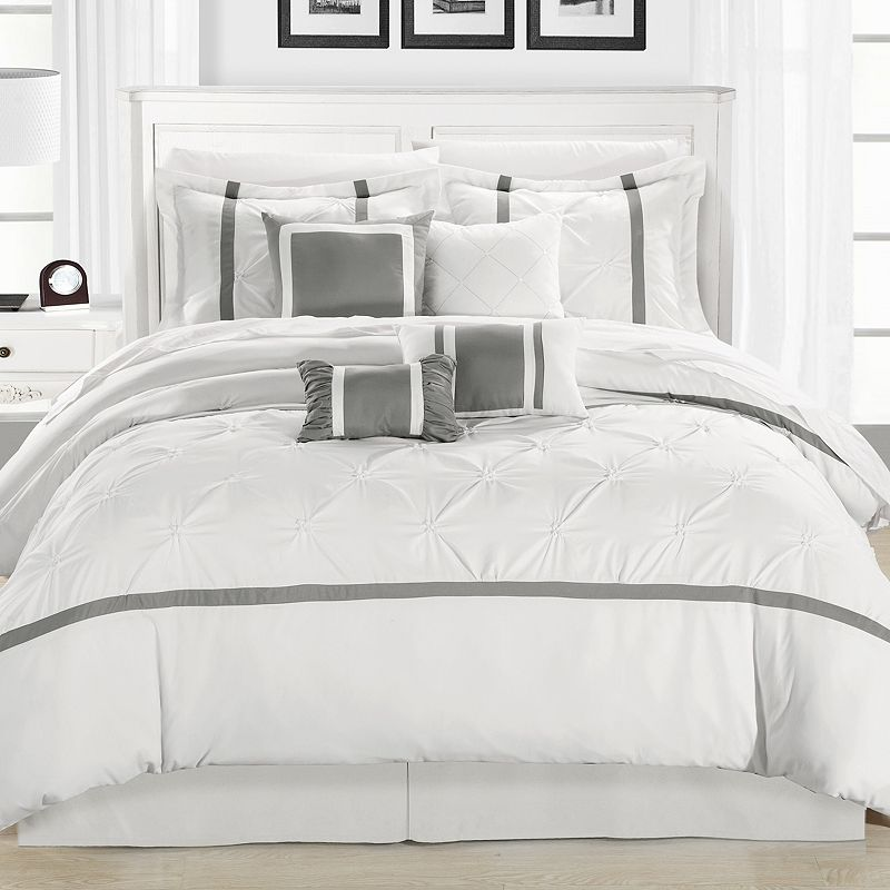 Vermont 12-pc. Gray Bed Set