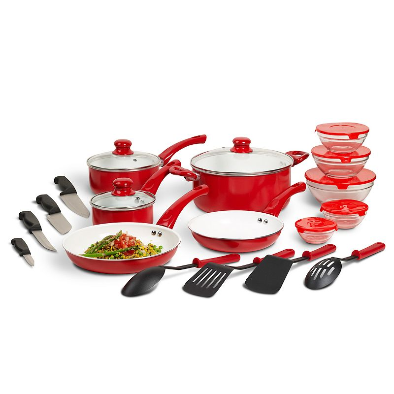 Basic Essentials 21-piece Aluminum Cookware Set