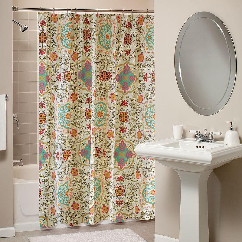 Espirit Spice Fabric Shower Curtain