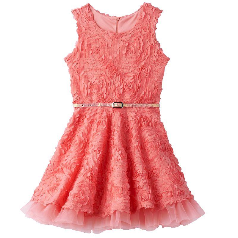 Girls 4-6x Knitworks Belted Soutache Skater Dress