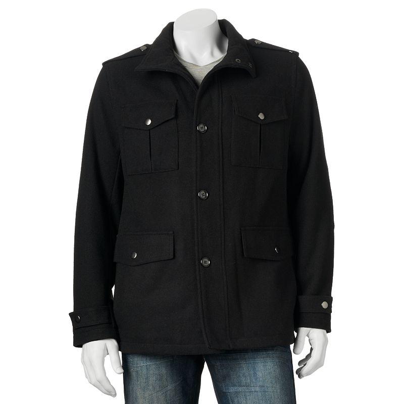 Men's Towne by London Fog Wool-Blend Field Coat