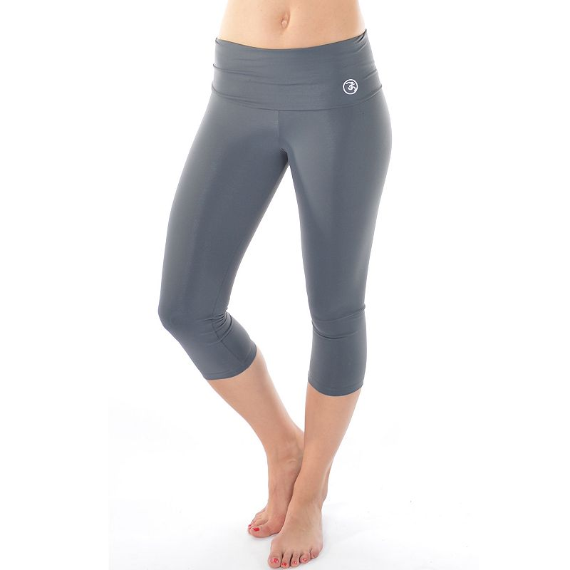 Wear Me Out Cinch-Back Foldover Capri Yoga Leggings - Women's