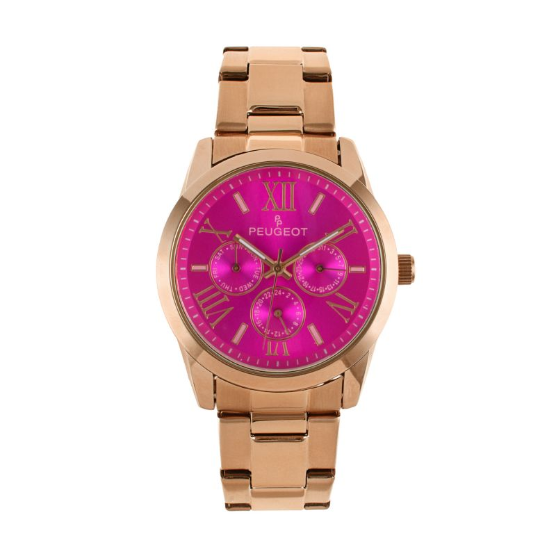 Peugeot Women's Stainless Steel Watch, Pink thumbnail