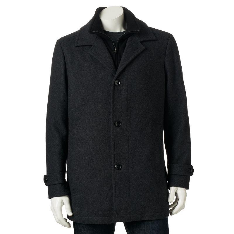 Towne by London Fog Wool-Blend Car Coat - Men