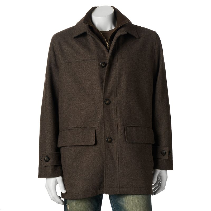 Towne by London Fog Wool-Blend Car Coat - Men