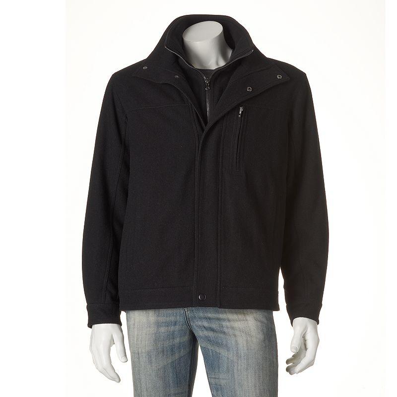 Big & Tall Towne Wool-Blend Open-Bottom Jacket