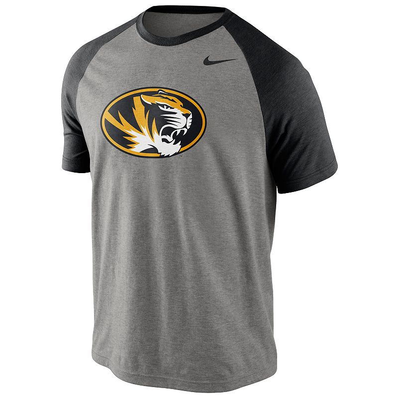 Men's Nike Missouri Tigers Big Play Raglan Top