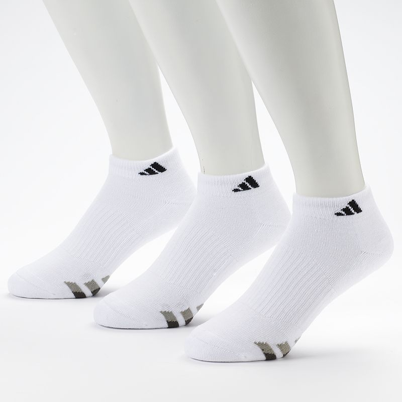 Men's adidas 3-Pack White Climalite Low-Cut Performance Socks
