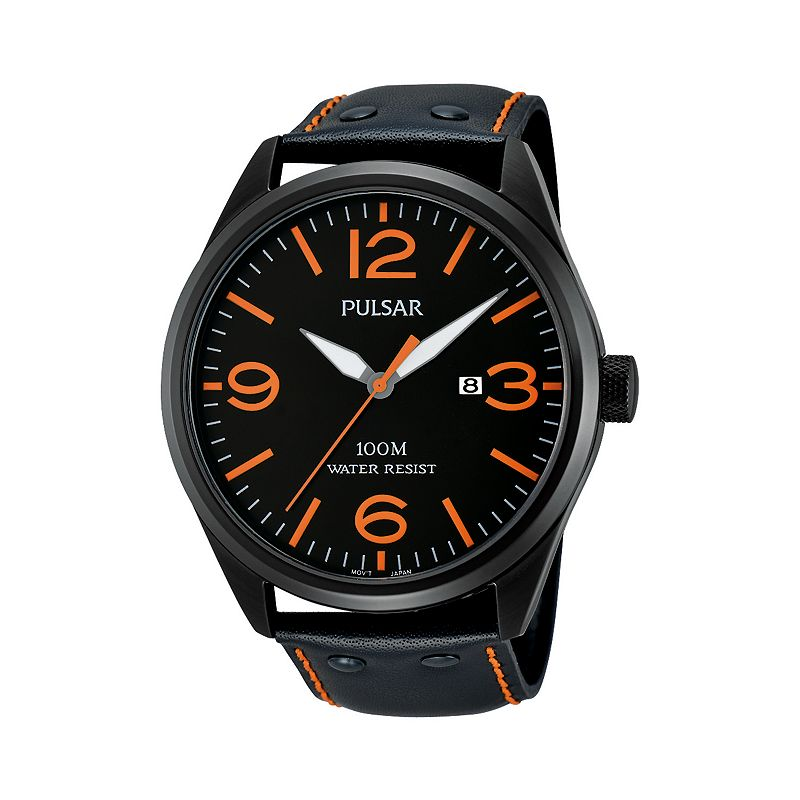 Pulsar Men's Leather Watch - PH9027X