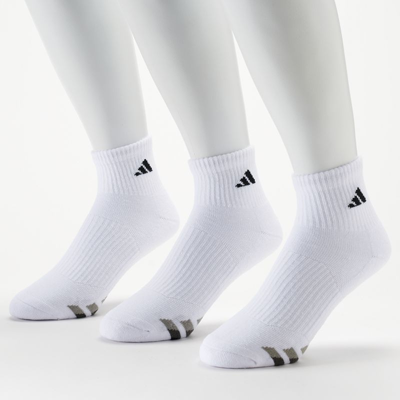 Men's adidas 3-Pack Performance Quarter-Crew Socks