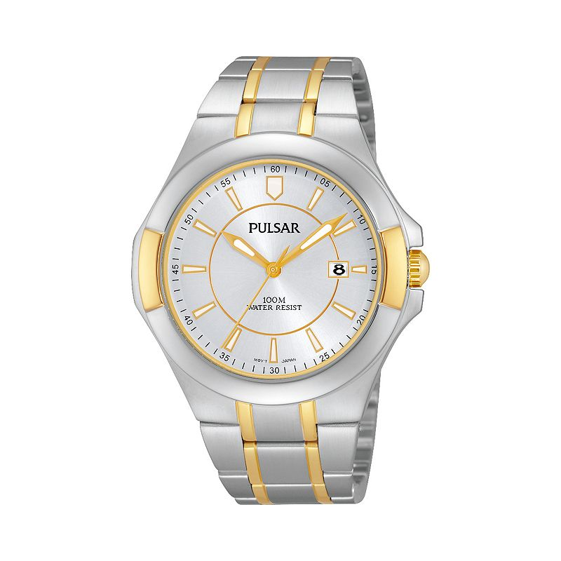 Pulsar mens deployment watch kohl 39 s for Watches kohls