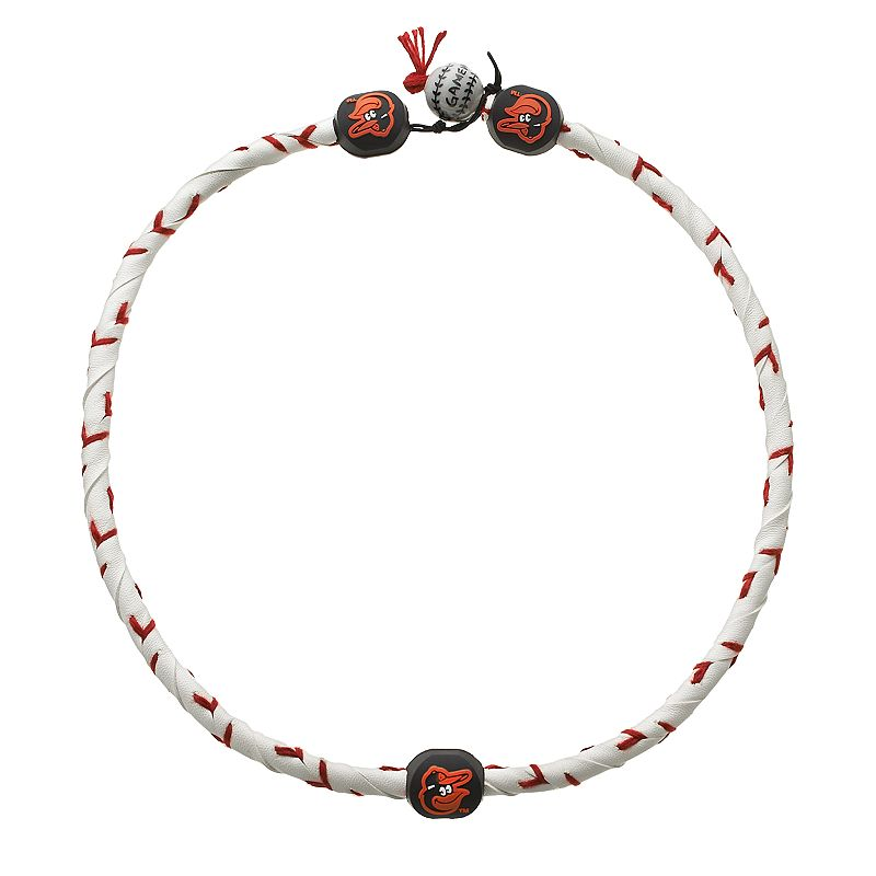 GameWear Frozen Rope Baltimore Orioles Leather Baseball Necklace