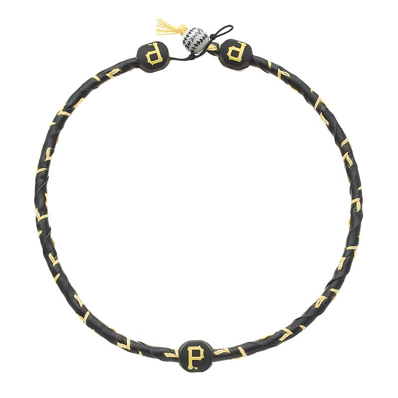 GameWear Frozen Rope Pittsburgh Pirates Leather Baseball Necklace