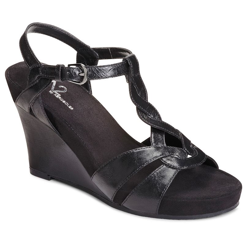 A2 by Aerosoles Stone Plush Women's Platform Wedge Sandals