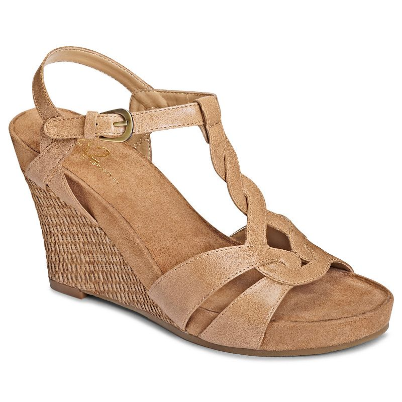A2 by Aerosoles Stone Plush Women's Platform Wedge Sandals