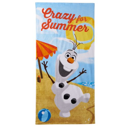 Disney's Frozen Olaf ''Crazy For Summer'' Beach Towel