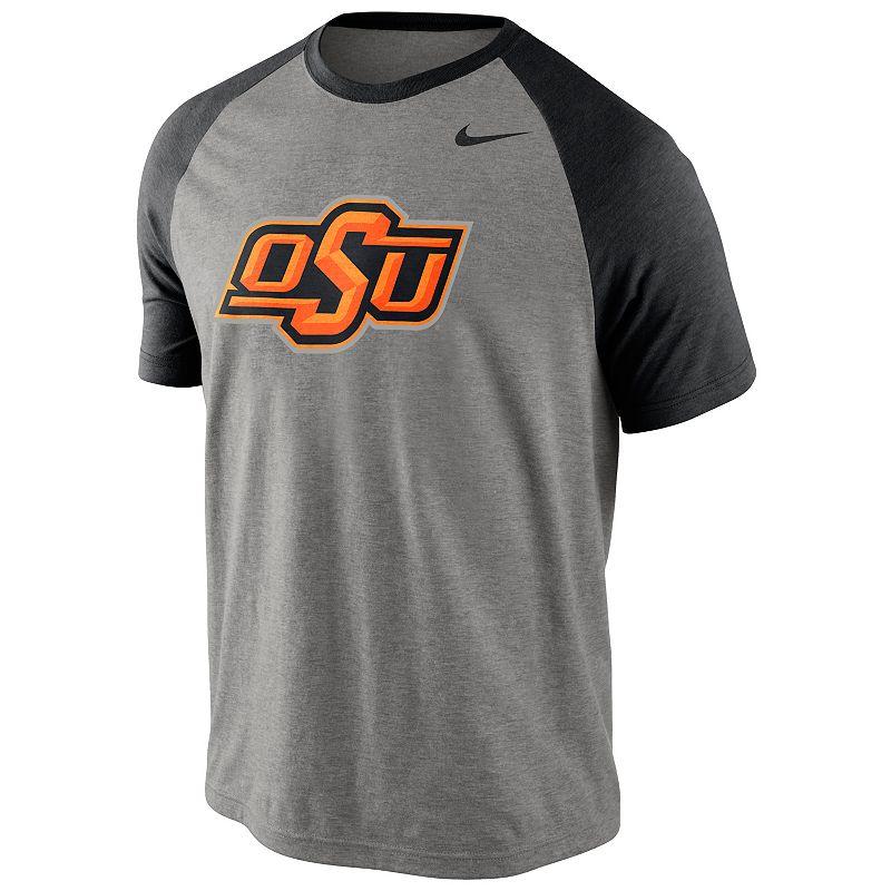 Men's Nike Oklahoma State Cowboys Big Play Raglan Top