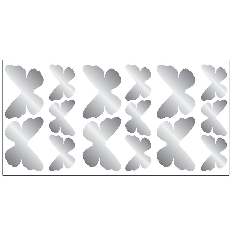 Butterfly Foil Peel and Stick Wall Decals