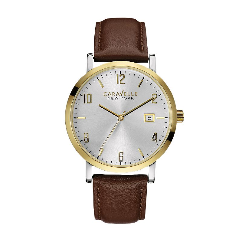 Caravelle New York by Bulova Men's Leather Watch - 44B108