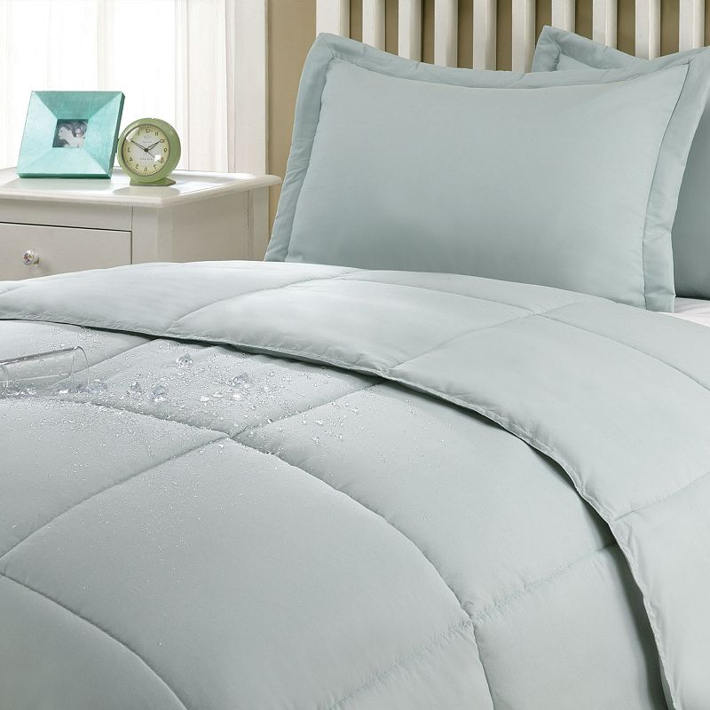Stayclean Solid 3-pc. Comforter Set - Full/Queen