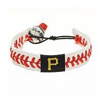 GameWear Pittsburgh Pirates Leather Baseball Bracelet