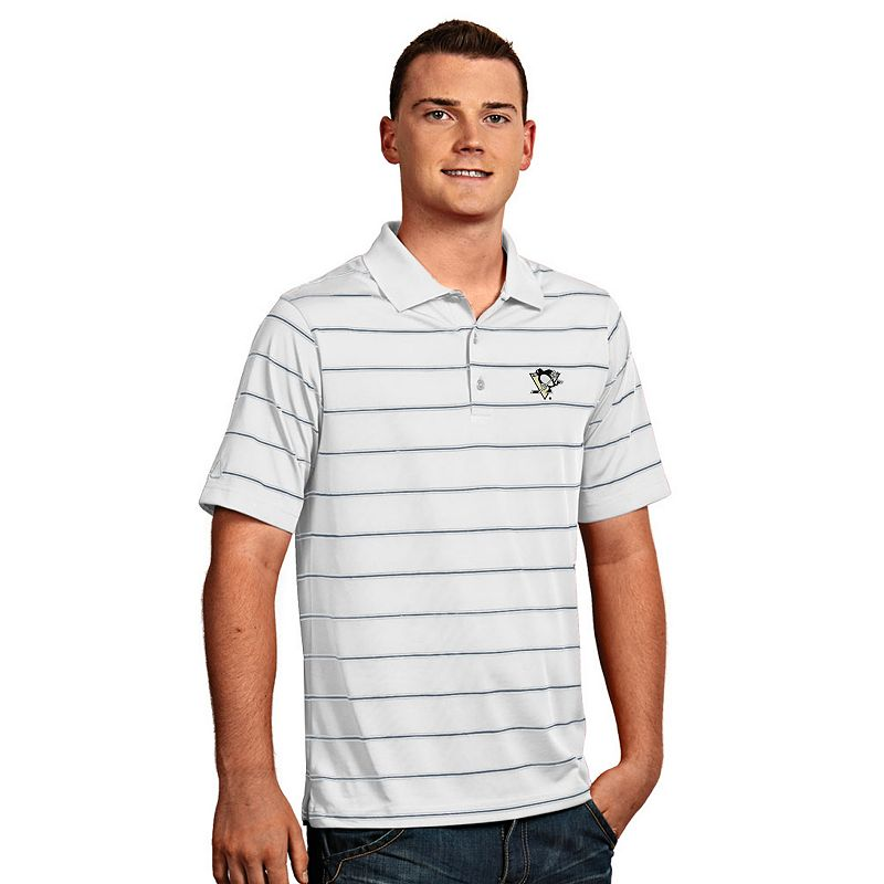 Men's Pittsburgh Penguins Deluxe Striped Desert Dry Xtra-Lite Performance Polo