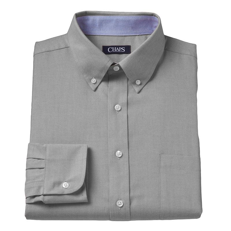 Men 39 s chaps classic fit oxford button down collar dress for Chaps mens dress shirts