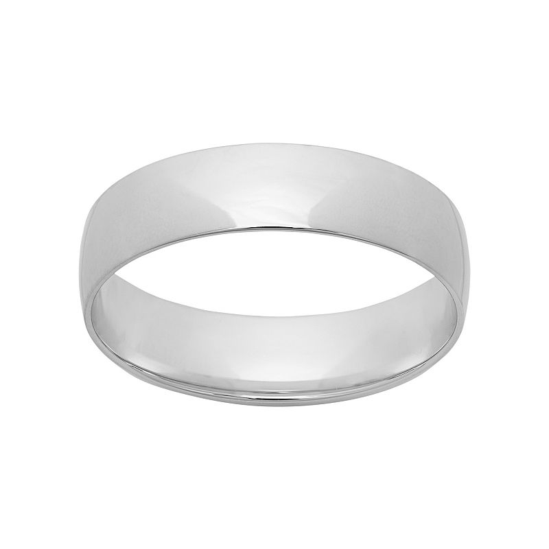 10k White Gold Wedding Band - Men