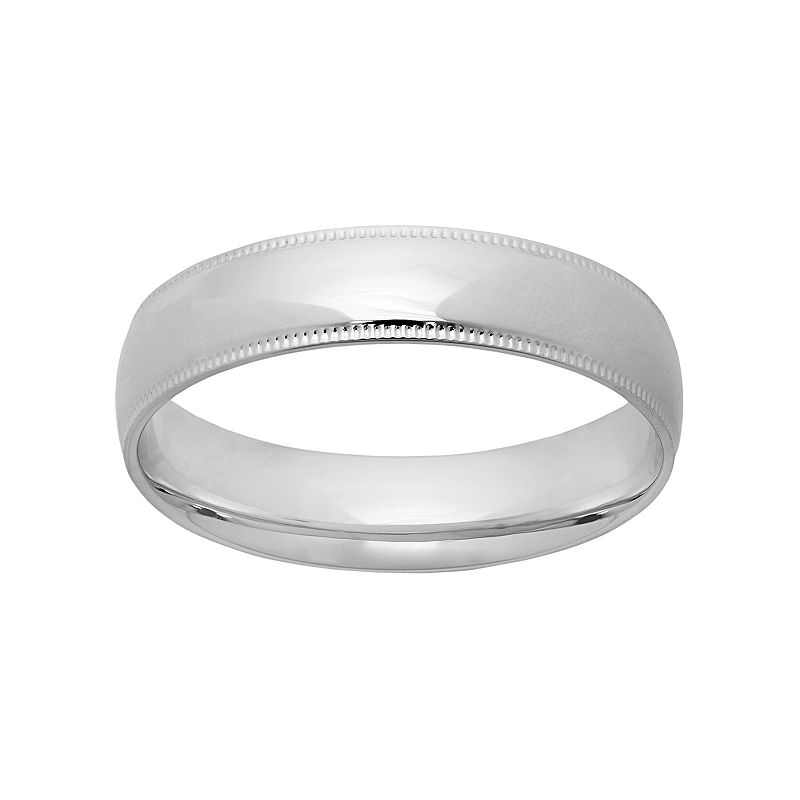 14k White Gold Wedding Band - Men