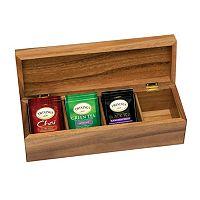 Lipper Acacia 4-Section Tea Box