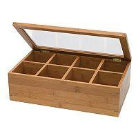 Lipper Bamboo 8-Section Tea Box