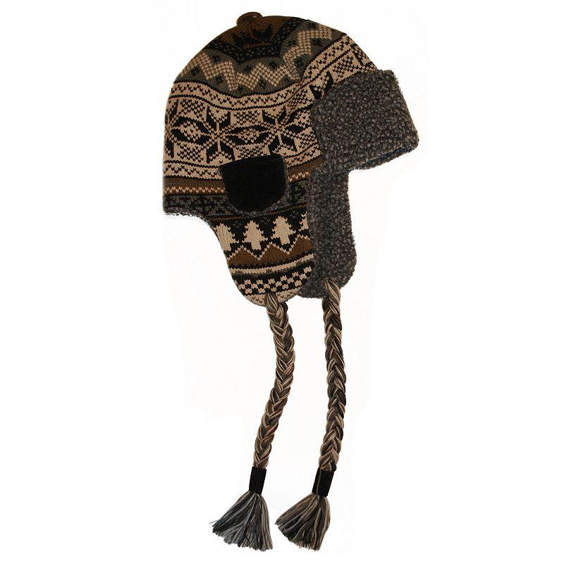Men's MUK LUKS Faux-Fur Brown Trapper Hat
