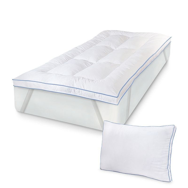 Sensorpedic Memoryloft 3 In Deluxe Memory Foam Mattress Topper And Pillow Set