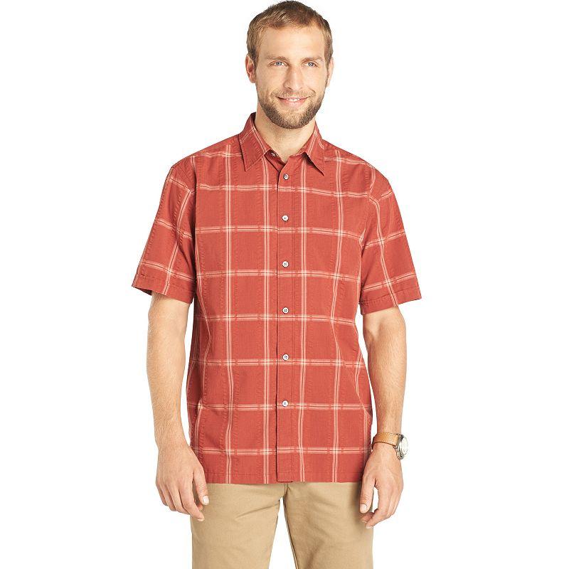 Van heusen aqua shirt kohl 39 s for Van heusen plaid shirts