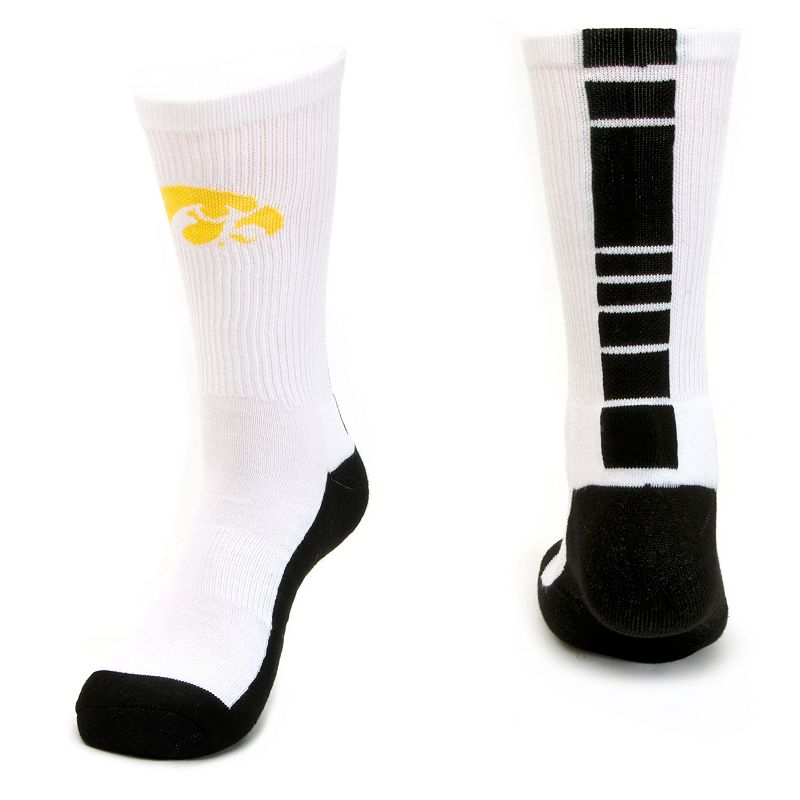 Men's Mojo Iowa Hawkeyes Champ 1/2-Cushion Performance Crew Socks