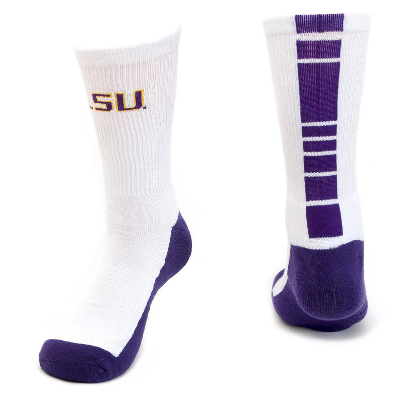 Men's Mojo LSU Tigers Champ 1/2-Cushion Performance Crew Socks