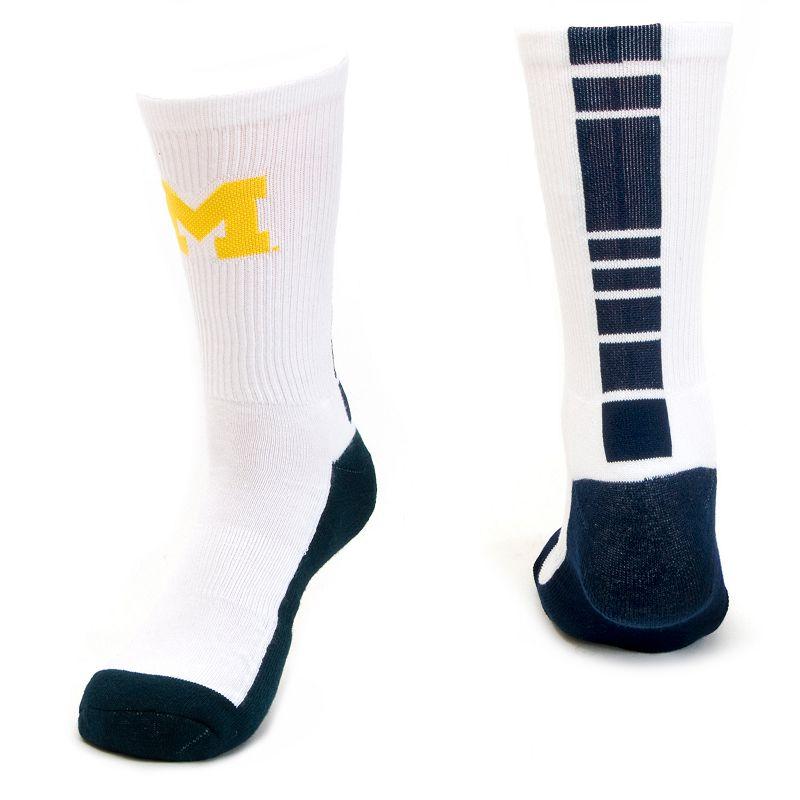 Men's Mojo Michigan Wolverines Champ 1/2-Cushion Performance Crew Socks