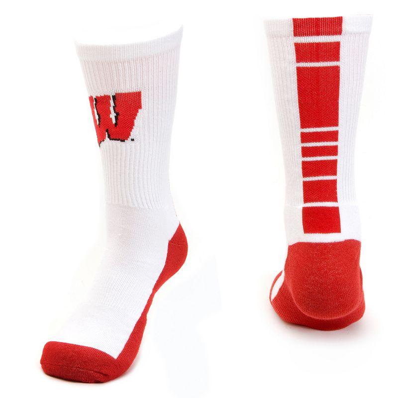 Men's Mojo Wisconsin Badgers Champ 1/2-Cushion Performance Crew Socks