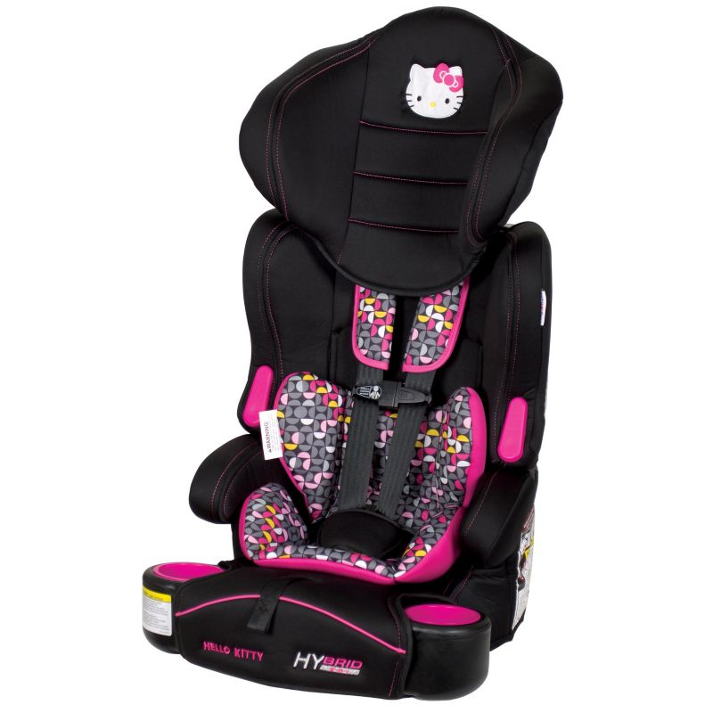 Hello Kitty Pin Wheel Hybrid 3-in-1 Booster Car Seat by Baby Trend, Pink
