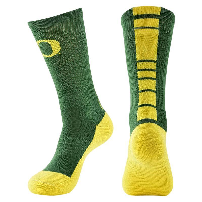 Men's Mojo Oregon Ducks Champ 1/2-Cushion Performance Crew Socks