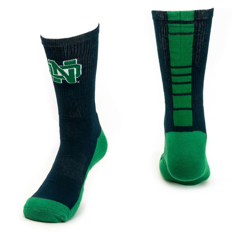 Men's Mojo Notre Dame Fighting Irish Champ 1/2-Cushion Performance Crew Socks
