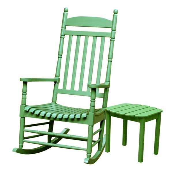 2-piece Porch Rocking Chair and Side Table Set
