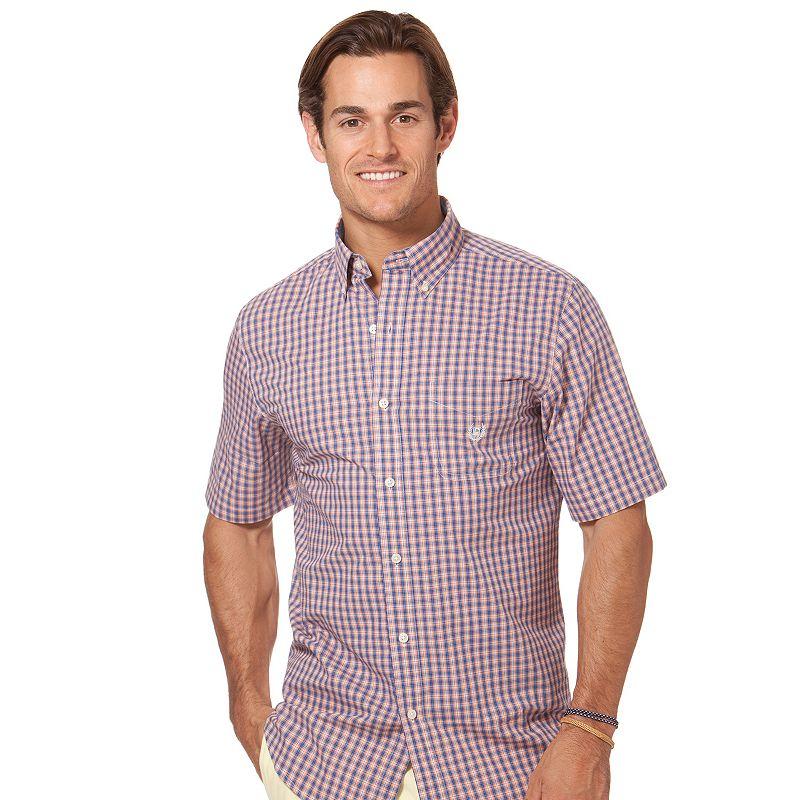 Men's Chaps Classic-Fit Plaid Casual Button-Down Shirt