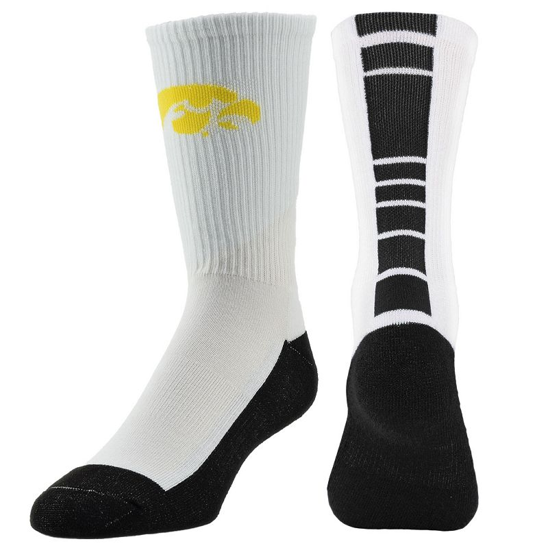 Youth Mojo Iowa Hawkeyes Champ 1/2-Cushion Performance Crew Socks