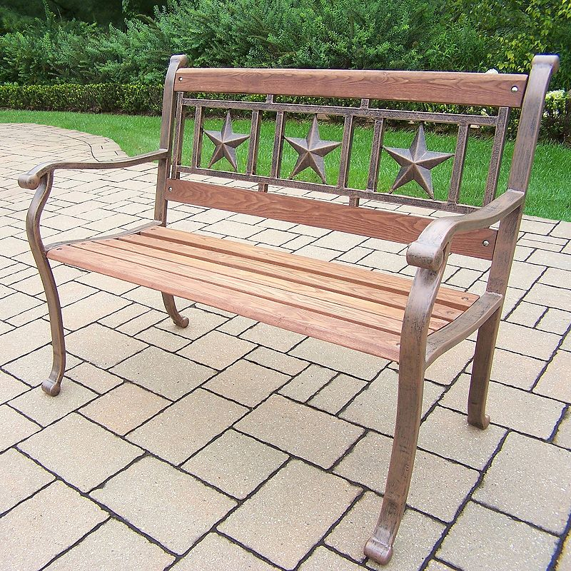 Triple Star Outdoor Bench