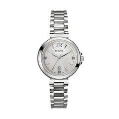 Bulova Women's Diamond Stainless Steel Watch 96P149